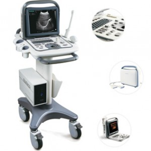 Used Ultrasound System for Sale-Sonoscape A6 On Mobile Cart