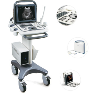 Used Ultrasound Machine-Sonoscape A6 On Mobile Cart