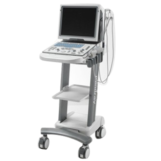 Mindray-DP-50 on cart veterinary ultrasound machine