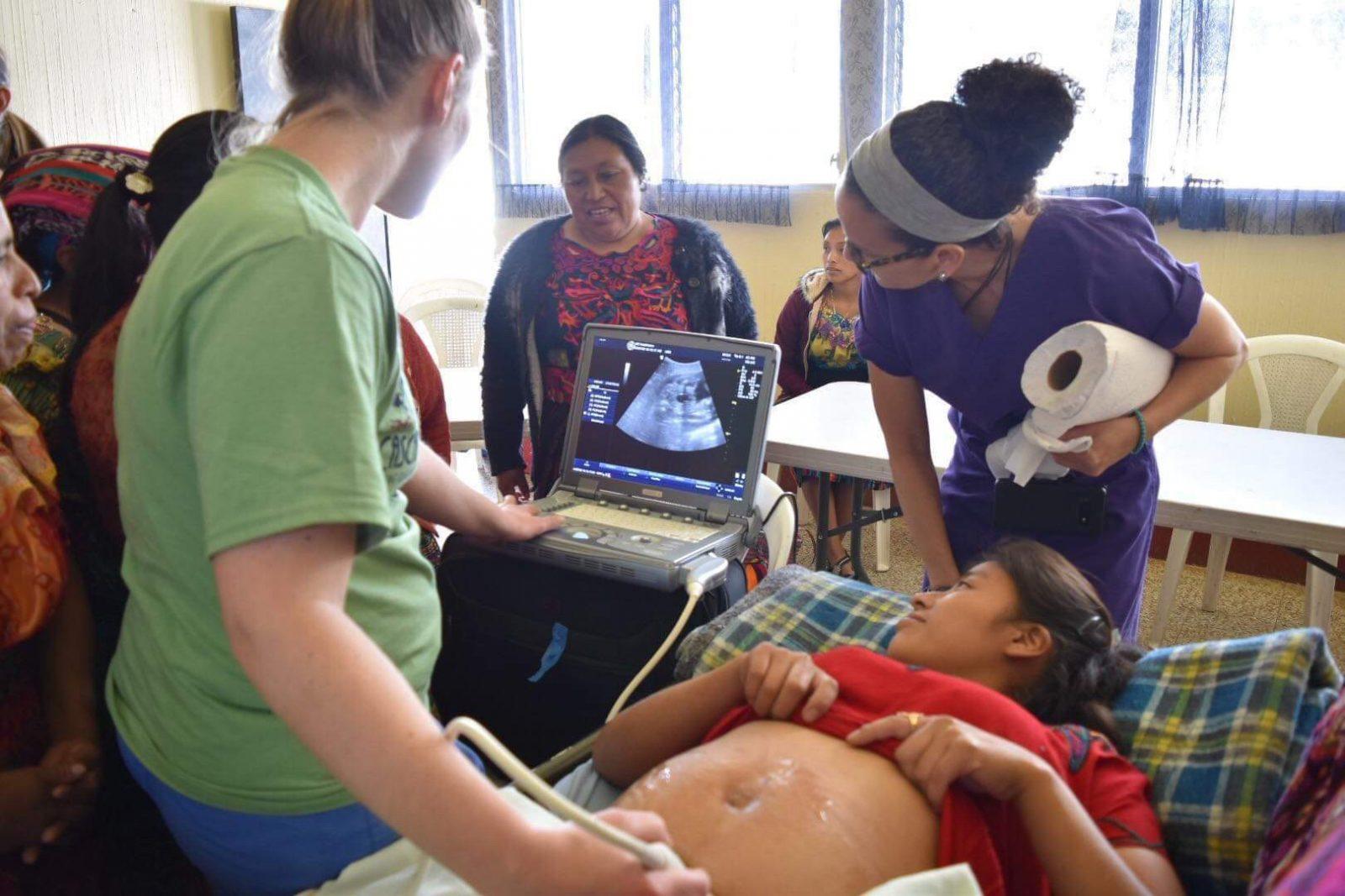 Ultrasound with Ge Logiq e OB-GYN ultrasound